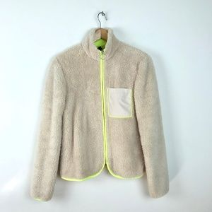 Divided Patagonia Style Zip Up Fuzzy Sweater XS
